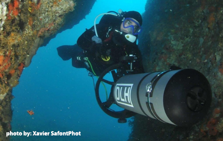 TDI Diver Propulsion Vehicle (DPV) Diver